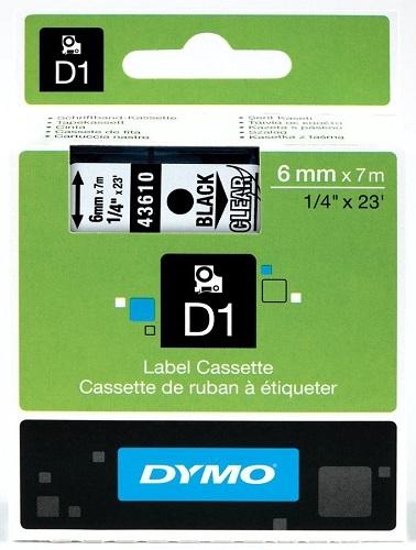 Dymo Original Black on Clear Tape(S0720770/43610)