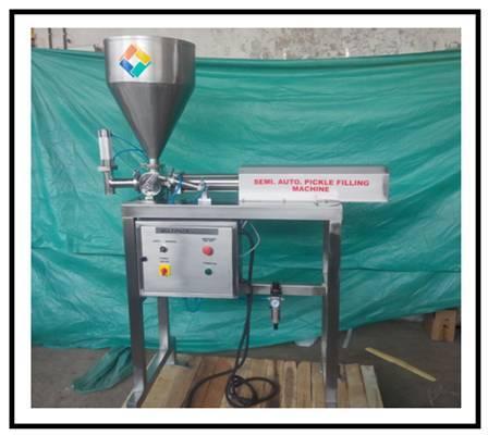 Semi Automatic Single Head Piston Type Pickle Filling Machine