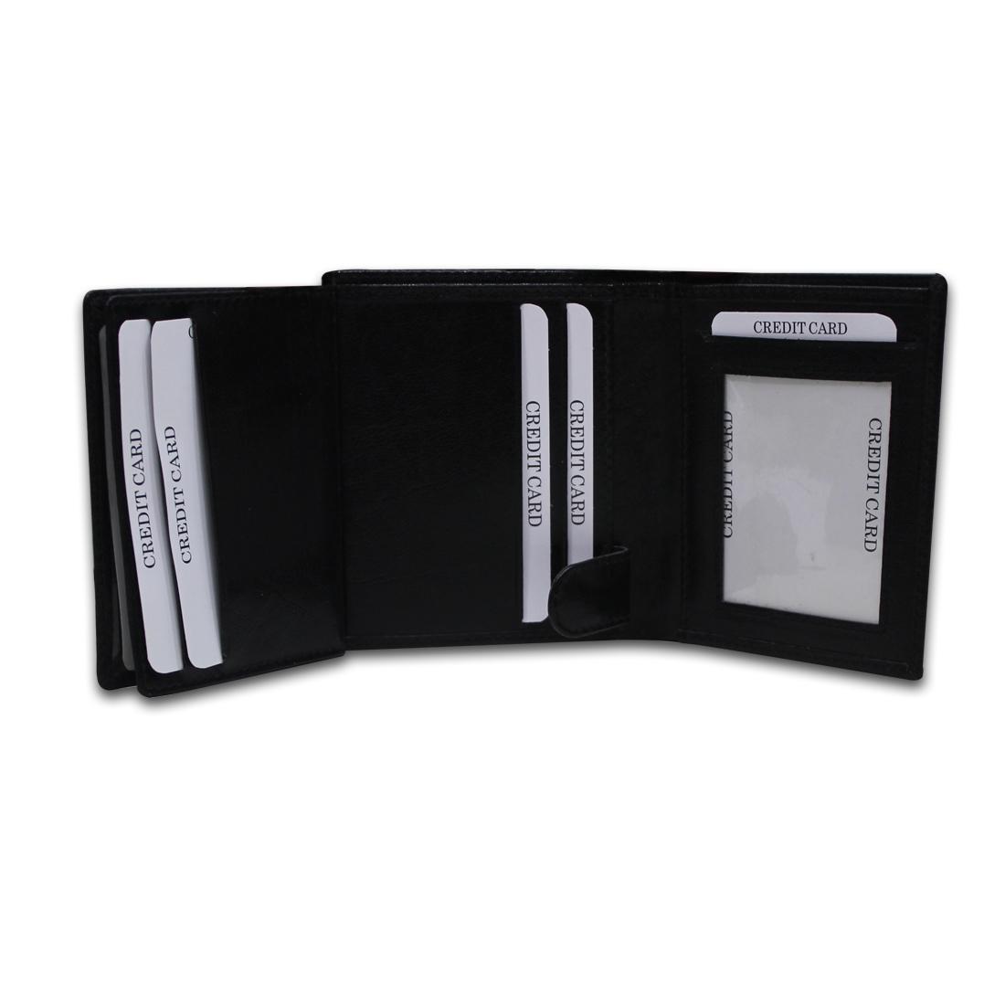 Men RFID Genuine Leather Standing Wallet
