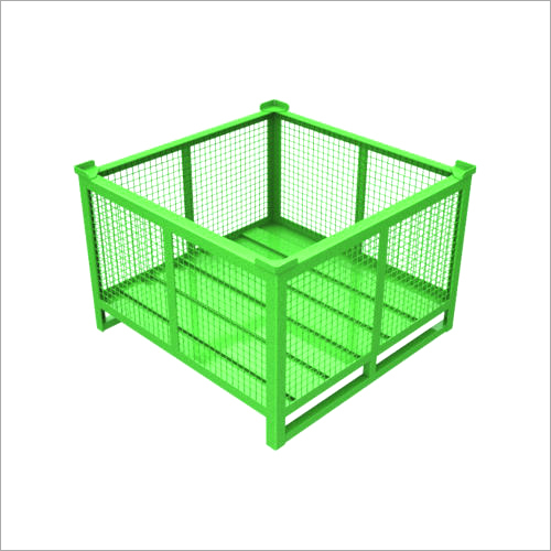 Green Closed Cage Bin