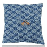 Handmade Hand Block Print 100% Cotton Indigo Blue Cushion Cover