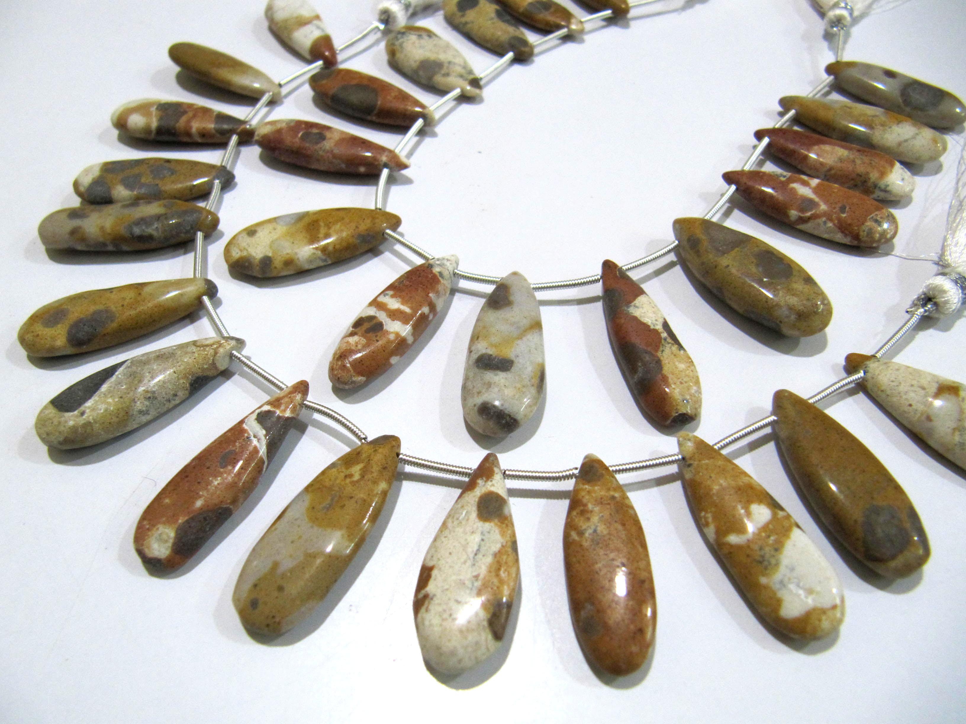Natural Camel Jasper Pear Shape Plain Smooth Briolette beads