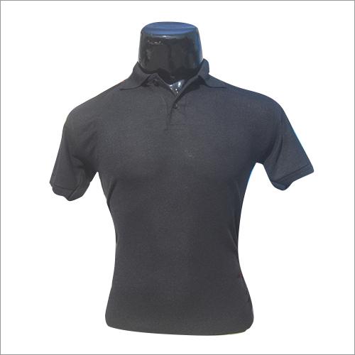 Polo Neck Plain T Shirt