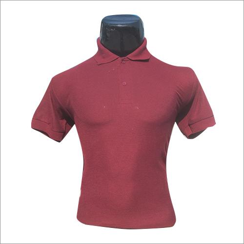 Polo Neck Half Sleeves Plain T Shirt