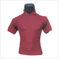 Polo Neck Half Sleeves Plain T Shirt