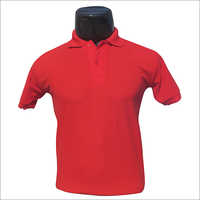 Polo Neck Red T Shirt