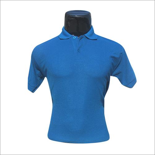 Polo Neck Blue T Shirt