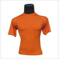 Solid Color Round Neck T Shirt
