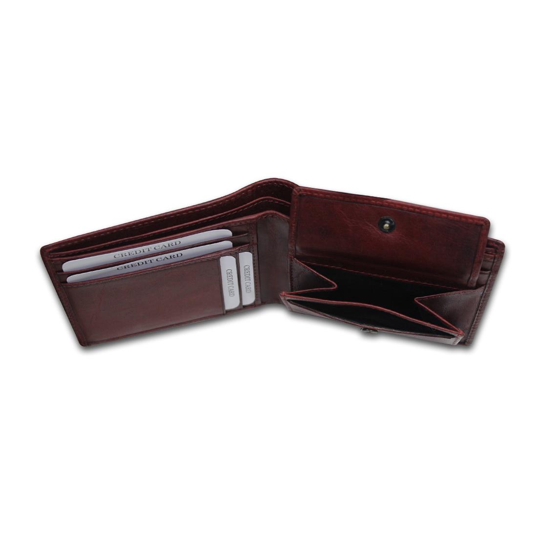 Men Leather Bi-Fold Anti-Theft Wallet