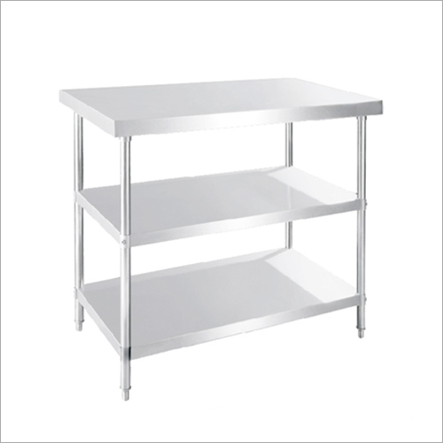Table Under Shelve Rack
