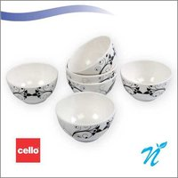 Cello Platino Melamine Veg Bowl (6 Pcs) – Retro