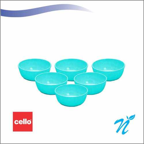 Cello Rococo 6pcs round katori 3.75 inches - Blue