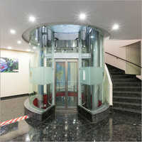Semi Transparent Passenger Glass Door Elevator