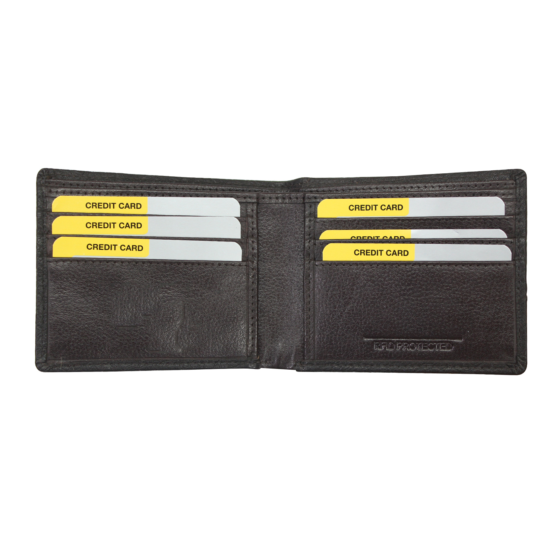 Men Genuine Leather RFID Slim Wallet