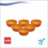 Cello Rococo 6pcs round katori 3.75″ – ASSORTED