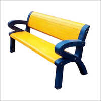Yellow Garden Cement Bench