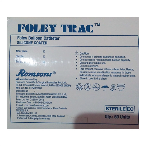 Silicone Coated Foley Balloon Catheter