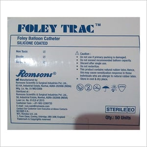 Silicone Coated Foley Balloon Catheter