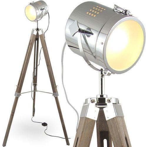 Floor Lamp Antique Upright Vintage Tripod Lamp