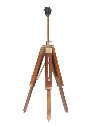 Classical Nautical Brass Brown Tripod