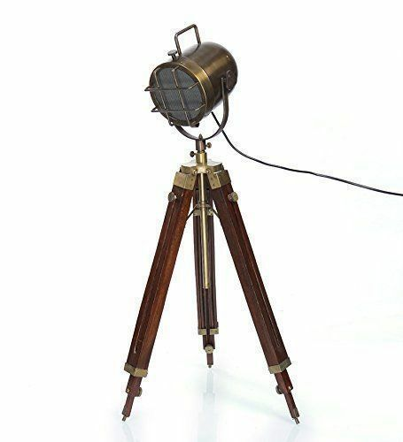Brass Antique Finish Search Light Lamp