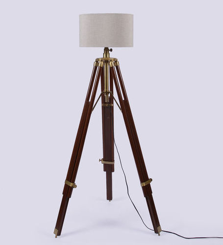 Studio Wooden Base Tripod Floor Lamp