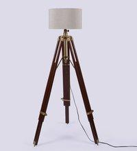 Studio Wooden Base Tripod Floor Lamp