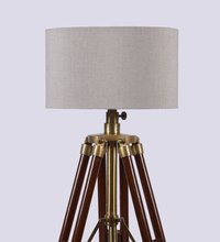 Studio Wooden Base Tripod Industrial Style Floor Lamp