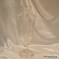 UNIQUE CUTTING GLASS FLOWER VASE