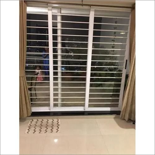 Aluminium Sliding Grilled Glass Shutters