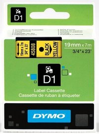 Dymo Original Black on Yellow Tape (S0720880/45808)