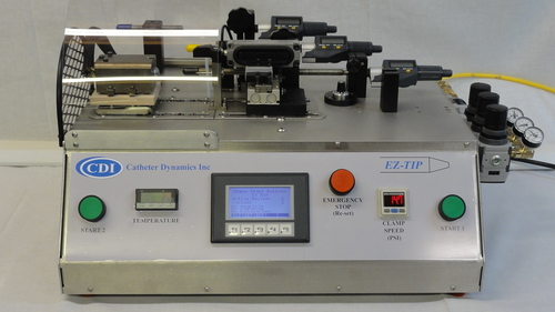 Catheter tip forming machine automation