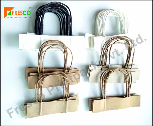 Brown Twisted Paper Rope Handle