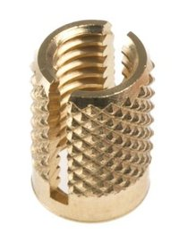 Brass Press Fit Expansion Inserts for Plastics