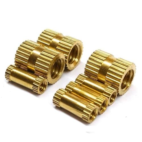 Brass Straight Knurling Round Insert