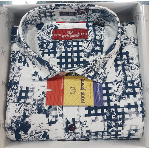 Mens Cotton Printed Shirt