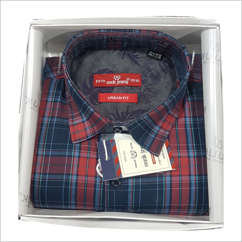 Mens Check Printed Shirt