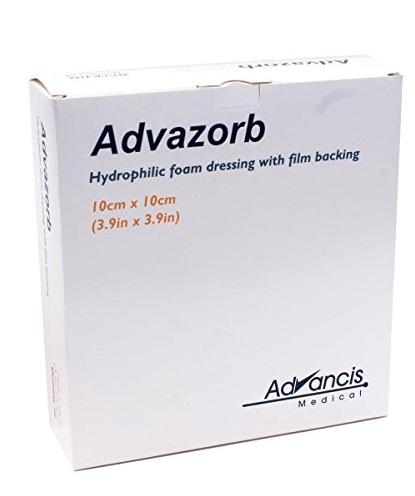Advazorb foam dressing 7,5x7,5cm 10 pcs. - A