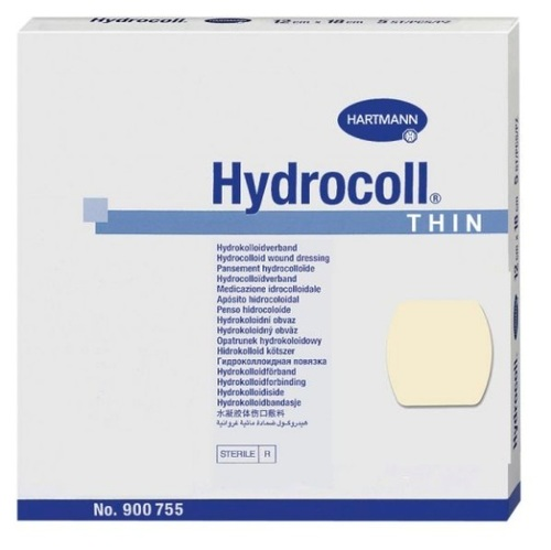 Hydrocoll wound dressing thin 10x10cm 10 pcs