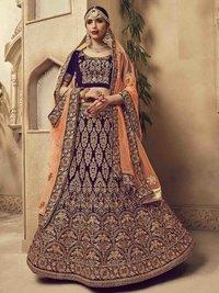 Red Velvet Multi Wedding & Bridal Designer Wholesale Lehenga Choli