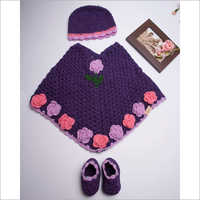 Baby Girl Hand Knitted Sweater Set