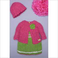 Baby Girl Woolen Hand Knitted Sweater Set