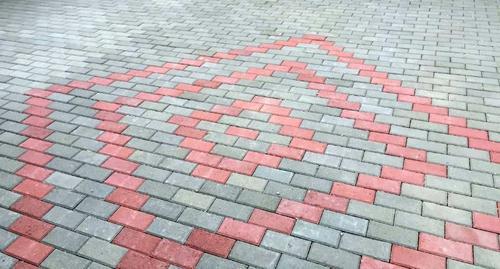 Brick Red  Grey Tile