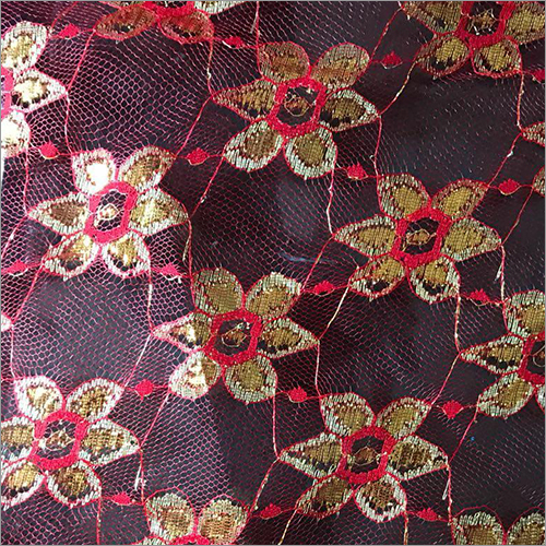 Gold Design Net Fabric