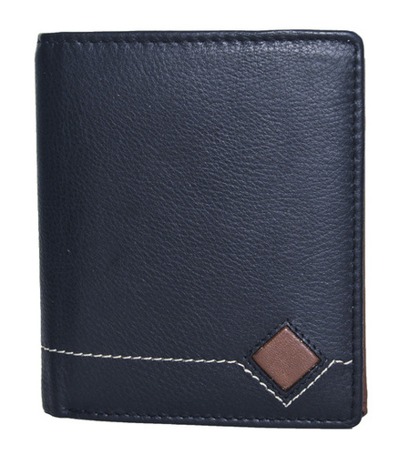 Black & Brown Men's Leather Wallet