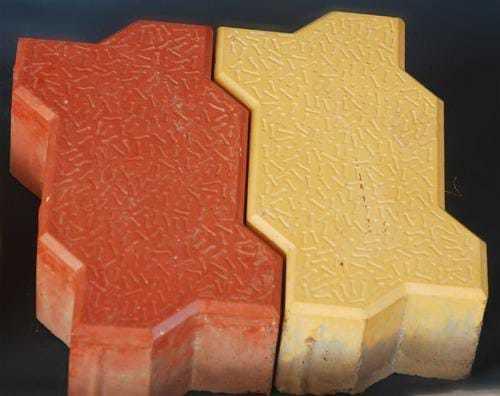 Red Yellow Interlocking Pavers