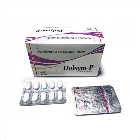 100 Mg Aceclofenac 325 Mg  Paracetamol Tablet