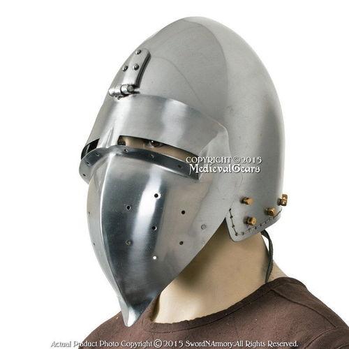 Piru 14th Century Medieval Knight Crusader Helmet Medieval Knights Helmets