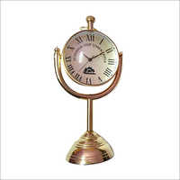 Antique Brass Desktop Clock