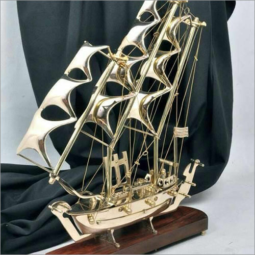 Antique Brass Ship